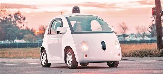 无人驾驶汽车样车将驶上公司总部所在地——加利福尼亚州芒廷高清图片