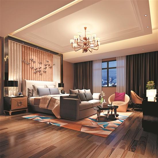 风格:现代欧式  主材:爵士白大理石,全抛釉面砖,实木底板,肌理漆