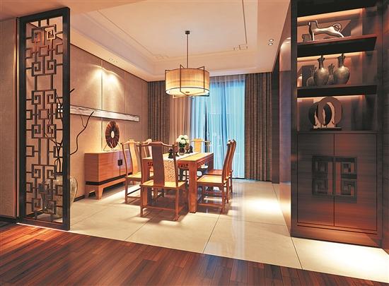 中式风格的室内设计是以明代家居文化为基础演绎