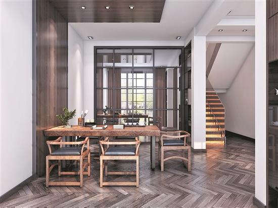 设计单位:泉州三星装饰 设 计 师:叶子 设计风格:新中式 所在小区:宝珊花园 房屋户型:别墅 建筑面积:300m2 装修造价:30.8万元(不含主材) 装修主材:石材、抛光砖、黑钛、木地板、硅藻泥等 新中式不仅更加符合现代人的审美,而且也有中式风格的特色,深受现代人的喜爱。新中式注重简约、自然、没有纷繁复杂的装饰,为了满足简洁明快,让设计回归生活的本质。本案选择新中式风格来营造舒适、自然的空间氛围,空间装饰多采用简洁硬朗的直线条,直线装饰在空间中的使用,不仅反映出现代人追求简单生活的居住要求,更迎合了中