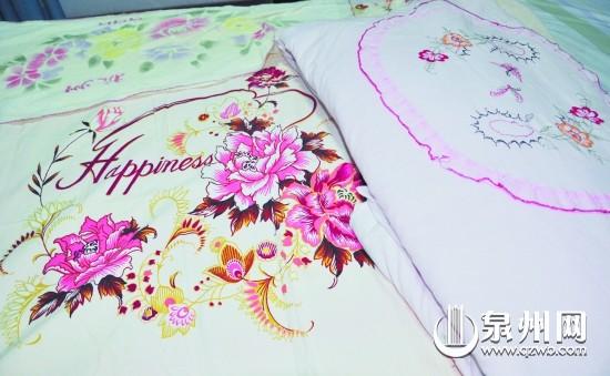 牡丹花 缝纫机/这套床上用品您是不是很熟悉?