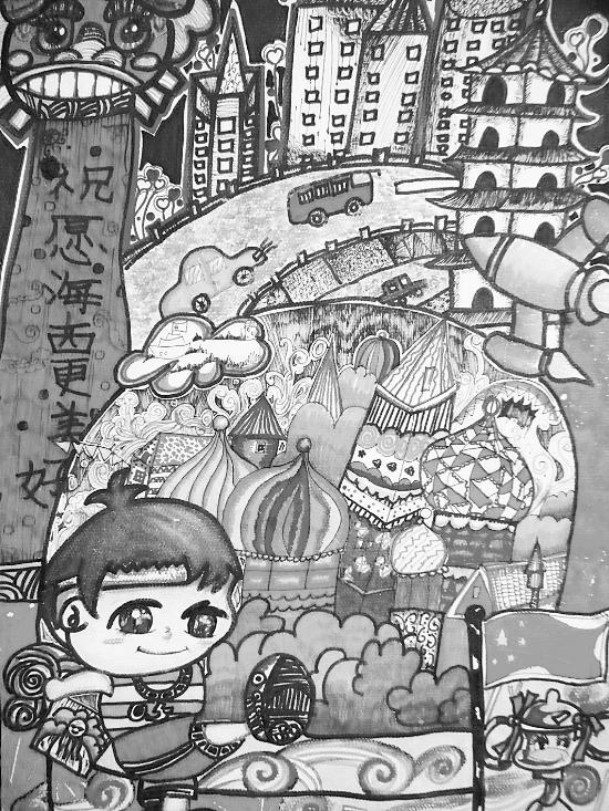 城堡儿童画范