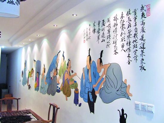 手绘墙作品选