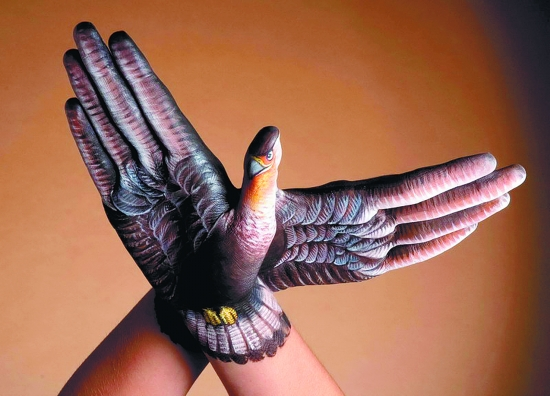 手上画出动物世界