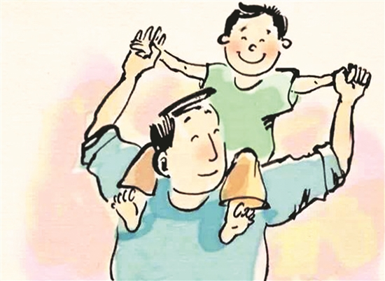 爸爸教育孩子卡通