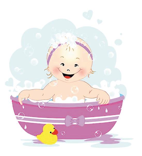可爱泡泡小孩洗澡头像_可爱头像_沙皮qq网