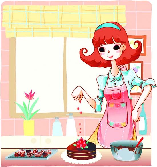蛋糕冰块手绘卡通图片