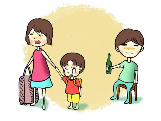 老婆和女儿卡通图片